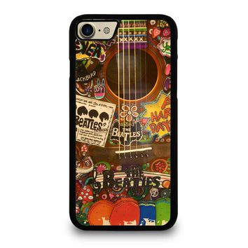 THE BEATLES GUITAR COLLAGE iPhone 4/4S 5/5S/SE 5C 6/6S 7 8 Plus X Case