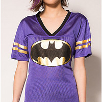 Batman Foil Logo Junior Fitted Hockey Jersey Tee - Spencer's