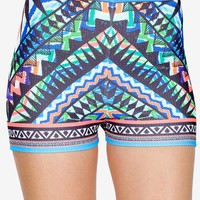 Blue Ocean Mirror Printed Short