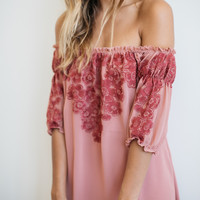 For Love & Lemons || Sicily mini dress in sangria