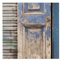 Blue Door Framed Print by Nichole Roberston