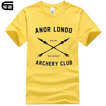Anor Londo Archery CLUB Men Tees T-Shirts Game Dark Souls T Shirts Casual Apparel Fashion short sleeve Tops T370