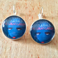 Book Cover Earrings - The Great Gatsby  - F. Scott Fitzgerald