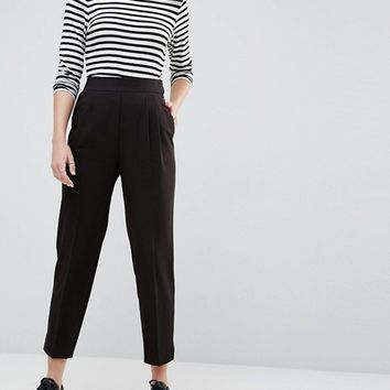 ASOS High Waist Tapered Pants at asos.com