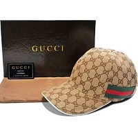 GUCCI Baseball Cap Green&Red Stripe Women Men Embroidery More Print Hat Sports Sun Hat