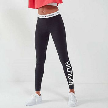 """Tommy Hilfiger"" Women Casual Stretch Sport Trousers Pants Sweatpants Leggings"
