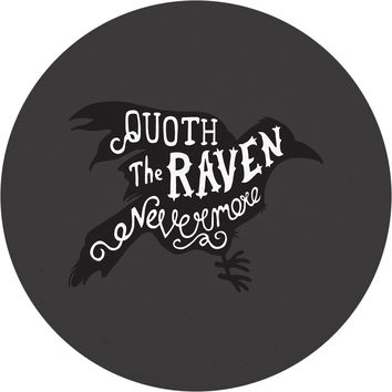 Quoth the Raven Circle Wall Decal