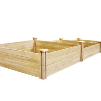 Stair-Step Dovetail Raised Garden Bed Three-Tier 14 In. 10.5 In. & 7 In. Planter