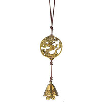 Solid Brass Hanging Door Chime, COSMIC DRAGON, metal chime, musical chime, fair trade | Toad Hollow