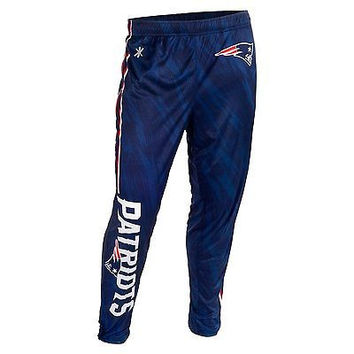 New England Patriots Forever Collectibles KLEW Tapered Zip Joggers Sizes M-2XL