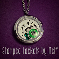 Coffee Conossieur - Hand Stamped Stainless Steel Memory Necklace - Glass Pendant with Starbucks Charm - Caffeine Addict Jewelry - Latte Love