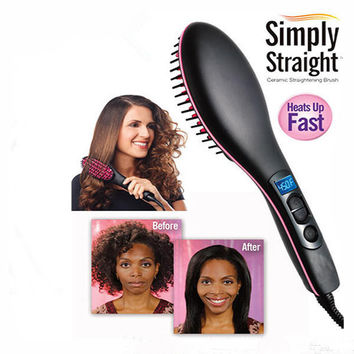 TV new hair straight straighteners electric hair combs electric magic straight hair comb