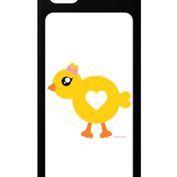 Cute Chick with Bow iPhone 5 / 5S Grip Case  by TooLoud