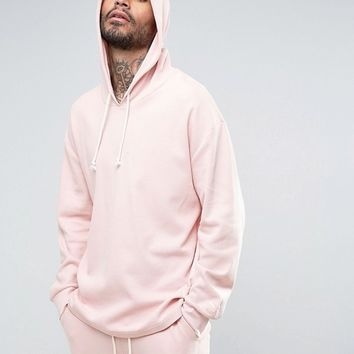 Puma Waffle Oversized Hoodie In Pink Exclusive to ASOS at asos.com
