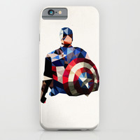 Polygon Heroes - Captain America iPhone & iPod Case by PolygonHeroes