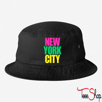 New York City colors bucket hat