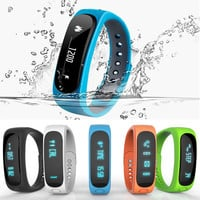 Smart Bracelet Bluetooth 4.0 Waterproof Touch Screen Fitness Tracker Health Wristband Sleep Monitor Smart Watch smart health
