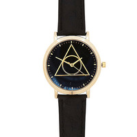 River Island MensBlack triangle detail watch
