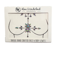 Star-crossed Lover Iridescent Self-Adhesive Chest Jewels