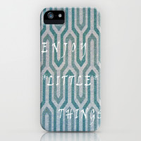 Enjoy The Little Things iPhone & iPod Case by Lucine