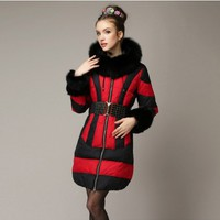 Women : Extremely Elegant Winter Duck Feather Down Coat YRB0402