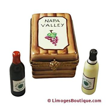 NAPA VALLEY WINE CRATE LIMOGES BOX