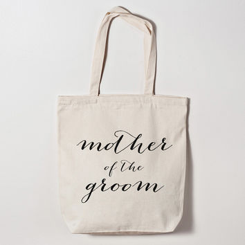 Mother of the Groom Calligraphy Tote Bag