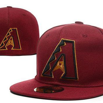 DCCKBE6 Arizona Diamondbacks New Era 59FIFTY MLB Hat Red-Black