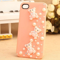 iphone 4 case, handmade iphone case iphone cover skin iphone 4s cover case - three bears iphone 4 cases