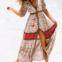 HIPPIE CHICK BUTTON UP DRESS