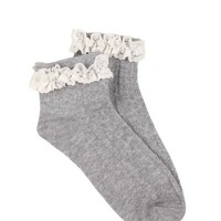 lacey plain sock