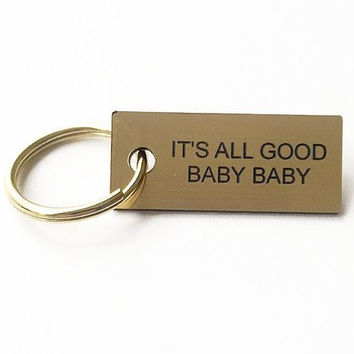 All Good Baby Baby Keychain