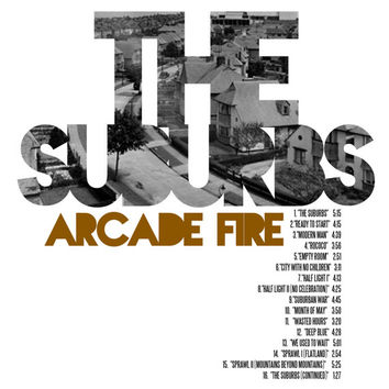 The Suburbs - Arcade Fire / Album Cover Art LP Poster (Paper or Plexiglas)