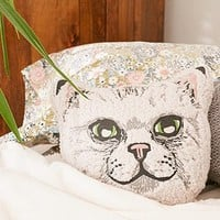 Sherpa Cat Pillow - Urban Outfitters