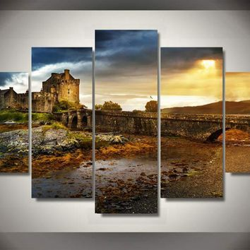Castle Adventures 5-Piece Wall Art Canvas
