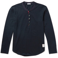 Thom Browne - Cotton-Piqué Henley T-Shirt | MR PORTER