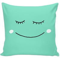Smiling Throw Pillow