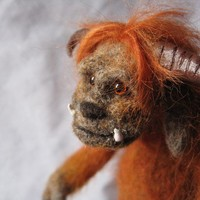 SALE One week ONLY Needle felted sculpture Ludo from by Fairyspit