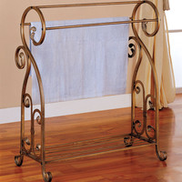 Antique Towel Rack by Coaster Furniture at Brookstone—Buy Now!