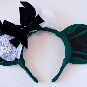 Haunted Mansion Maid Inspired Mickey Mouse Ear Headband