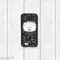 Composition Notebook , Custom Phone Case for Galaxy S4, S5, S6