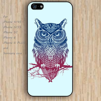 iPhone 5s 6 case colorful owl case iphone case,ipod case,samsung galaxy case available plastic rubber case waterproof B238