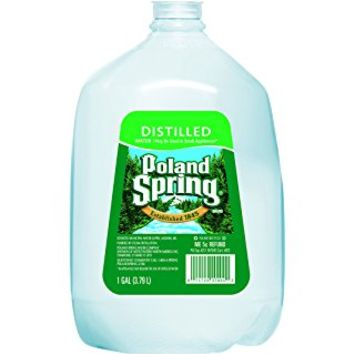 Poland Spring Spring Water, Distilled 1 GAL (Pack of 6)