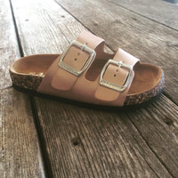 Rose Gold Sandal - Girls