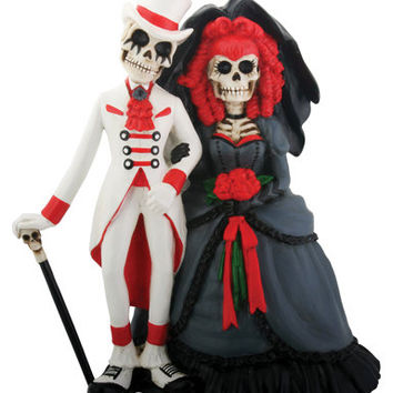 Day of the Dead Gothic Wedding Couple - Wedding Cake Topper