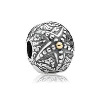 PANDORA Two-Tone Starfish Clip