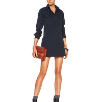 Officer's Cotton Dress in Navy