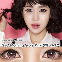 GEO Morning Glory Pink Circle Lens Cosmetic Big Eye Colored Contacts Lenses | EyeCandy's