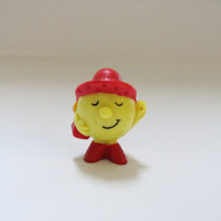 LITTLE MISS SPLENDID, Vintage Arby's pvc figure, yellow figure with red hat, Little Miss Series, collectible pvc figure, vintage collectible