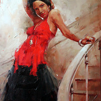 Andre Kohn The Grand Entrance [Andre Kohn_A7200] - $99.00 oil painting for sale|Wonderful artwork|Buy it at once.